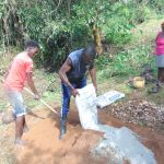The Water Project: Mubinga Community, Mulutondo Spring -  Mixing Cement