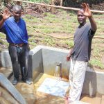 The Water Project: Mubinga Community, Mulutondo Spring -  Men Celebrate The Spring