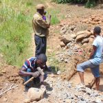 The Water Project: Mwichina Community, Matanyi Spring -  Making Gravel For Concrete