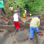 The Water Project: Kalenda A Community, Webo Simali Spring -  Brick Work