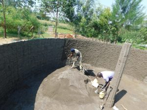 The Water Project:  Wall And Pillar Cement Work