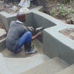 The Water Project: Bukhaywa Community, Shidero Spring -  Plastering