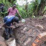 The Water Project: Rosterman Community, Lishenga Spring -  Stone Pitching