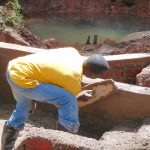 The Water Project: Imusutsu Community, Ikosangwa Spring -  Plastering