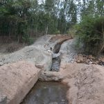 The Water Project: Ngitini Community D -  Trenching For Dam