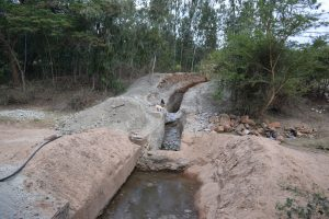 The Water Project:  Trenching For Dam