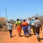 The Water Project: Wamwathi Community -  Shg Members Walk To Training Activity