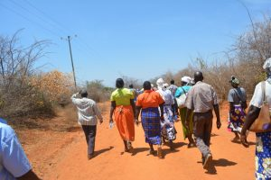 The Water Project:  Shg Members Walk To Training Activity
