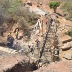 The Water Project: Wamwathi Community -  Scaffolding For The Dam