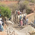 The Water Project: Wamwathi Community -  Wing Wall Construction