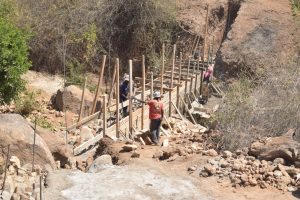 The Water Project:  Working On Dam Walls