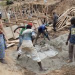 The Water Project: Kyamwao Community -  Mixing Cement