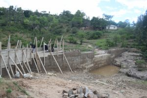 The Water Project:  Late Stages Dam Work