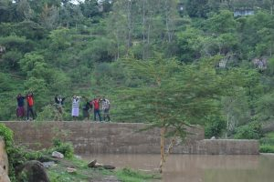 The Water Project:  Shg Members On The Dam