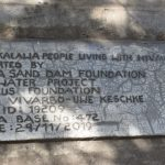 The Water Project: Kaketi Community -  Sand Dam Plaque