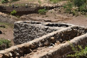 The Water Project:  Finishing Well Walls And Path