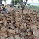 The Water Project: Maviaume Primary School -  Large Rocks For Tank Construction
