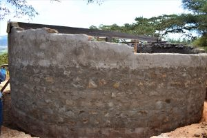 The Water Project:  Tank Walls Under Construction