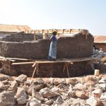 The Water Project: Kyandoa Primary School -  Finishing Tank Walls