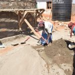 The Water Project: Kyandoa Primary School -  Mixing Cement