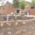 The Water Project: Kangutha Primary School -  Cement Work On The Tank Wall
