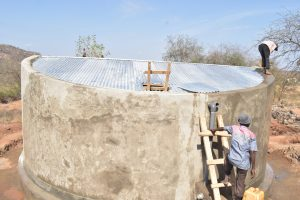 The Water Project:  Finishing The Tank Roof