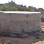 The Water Project: Kangutha Primary School -  Tank Cement Dries