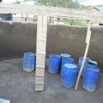 The Water Project: Kithoni Primary School -  Inside Tank During Construction