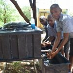 The Water Project: Kithoni Primary School -  Washing Hands At New Station