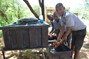 The Water Project:  Washing Hands At New Station