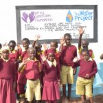 The Water Project: Nguluma Primary School -  Students At The Tank