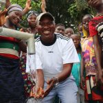 The Water Project: Kamayea, Susu Community & Church -  Councilor Celebrating At The Well