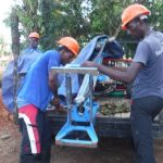 The Water Project: Kamayea, Susu Community & Church -  Setting Machine For Drilling
