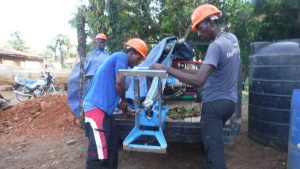 The Water Project:  Setting Machine For Drilling