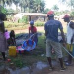 The Water Project: Kamayea, Susu Community & Church -  Yield Test