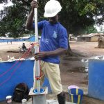 The Water Project: Lungi, Tintafor, St. Lucia Well -  Pump Installation