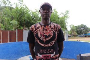 The Water Project:  Sorie Kanu Pump Caretaker