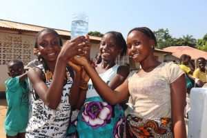 The Water Project:  Girls Rejoice At The Water From The Well
