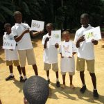 The Water Project: Lungi, Mamankie, DEC Mamankie Primary School -  Child Health Heroes Teaching About Disease Transmission