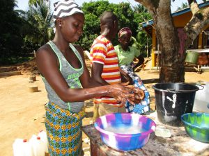 The Water Project:  Community Members Handwashing During The Training