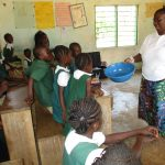 The Water Project: Lungi, Mamankie, DEC Mamankie Primary School -  Handwashing Demonstration