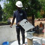 The Water Project: Lungi, Mamankie, DEC Mamankie Primary School -  Pump Installation