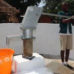 The Water Project: Lungi, Mamankie, DEC Mamankie Primary School -  Pumping The Well