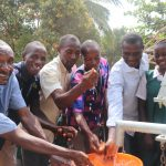 The Water Project: Lungi, Mamankie, DEC Mamankie Primary School -  School Staff Celebrate At The Well