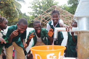The Water Project:  Students Happy For Clean Water Flowing