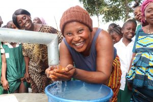 The Water Project:  Community Woman Happy Drinking Safe And Pure Water