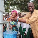 The Water Project: Lungi, Kasongha, DEC Kasongha Primary School -  Head Teacher And Deputy Head Teacher Joyfully Splash Water