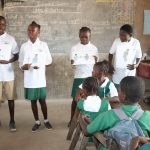 The Water Project: Lungi, Kasongha, DEC Kasongha Primary School -  Students Explaining Disease Transmission