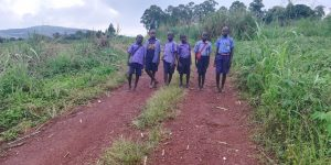 The Water Project:  Students Walking Home From School