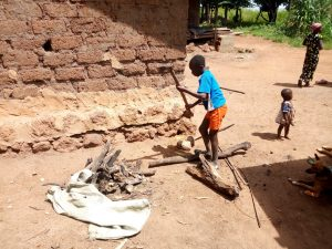 The Water Project:  Splitting Firewood